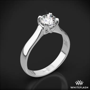 Platinum W-Prong Solitaire Engagement Ring