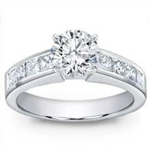 Princess Cut Channel-Set Engagement Setting | Adiamor