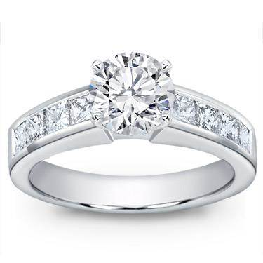 Princess Cut Channel-Set Engagement Setting
