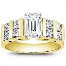Princess-Cut Channel-Set Engagement Setting | Adiamor