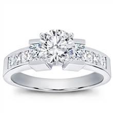 Princess Cut Engagement Setting | Adiamor