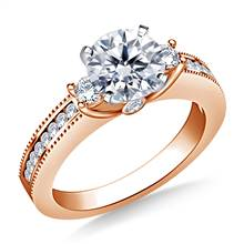 Prong, Channel and Bezel-Set Diamond Ring in 18K Rose Gold (3/8 cttw.) | B2C Jewels