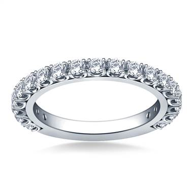 Prong Set Diamond Adorned Band in 14K White Gold (1.00 cttw.)