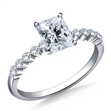 Prong Set Diamond Engagement Ring in Platinum (1/5 cttw) | B2C Jewels