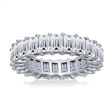 Prong Set Emerald Cut Diamond Eternity Ring in Platinum (5.00 - 6.00 cttw.) | B2C Jewels