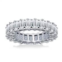 Prong Set Emerald Cut Diamond Eternity Ring in Platinum (5.00 - 6.00 cttw.) | B2C Jewels