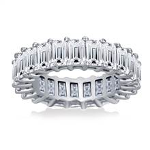 Prong Set Emerald Cut Diamond Eternity Ring in Platinum (8.32 - 10.40 cttw) | B2C Jewels