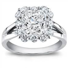 Prong-Set Halo Diamond Engagement Setting | Adiamor