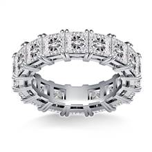 Prong Set Princess Cut Diamond Eternity Ring in 18K White Gold (6.40 - 7.60 cttw.) | B2C Jewels