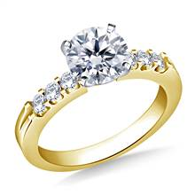 Prong Set Round Diamond Engagement Ring in 14K Yellow Gold (5/8 cttw.) | B2C Jewels