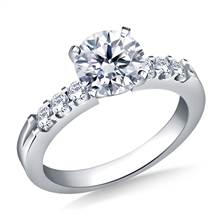 Prong Set Round Diamond Engagement Ring in 18K White Gold (5/8 cttw.) | B2C Jewels