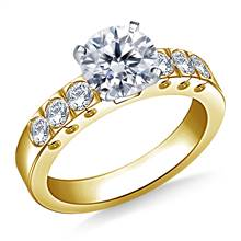 Prong Set Round Diamond Engagement Ring in 18K Yellow Gold (1/2 cttw.) | B2C Jewels