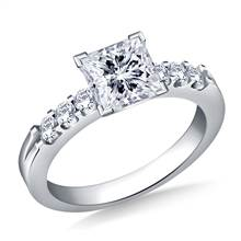 Prong Set Round Diamond Engagement Ring in Platinum (5/8 cttw.) | B2C Jewels