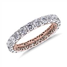 """Regalia Diamond Eternity Ring in 14k White and Rose Gold (2 ct. tw.)""   Blue Nile"