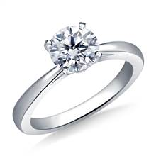 Reverse Tapered Solitaire Diamond Engagement Ring in 18K White Gold (1.9 mm) | B2C Jewels