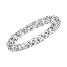 Ribbon Profile Diamond Eternity Ring in 18k White Gold- H/SI2 (1 ct. tw.) | Blue Nile