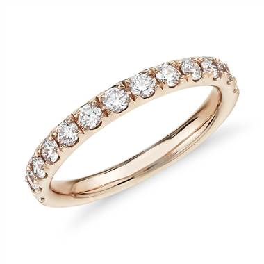 """Riviera Pave Diamond Ring in 14k Rose Gold (1/2 ct. tw.)"""