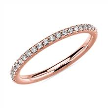 Riviera Pave Diamond Ring in 14k Rose Gold (1/6 ct. tw.) | Blue Nile