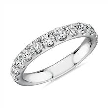 Riviera Pave Diamond Ring in 14k White Gold (1 ct. tw.) | Blue Nile