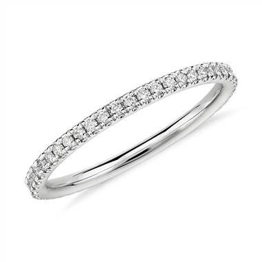Riviera Petite Micropave Diamond Eternity Ring in Platinum (1/4 ct. tw)