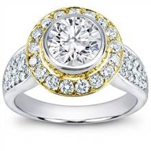 Rose Gold Bezel Pave Diamond Setting | Adiamor