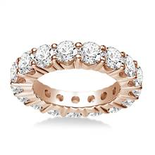Round Common Prong Set Diamond Eternity Ring In 18K Rose Gold (3.75 - 4.75 cttw.) | B2C Jewels