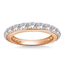 Round Diamond Adorned Eternity Ring in 18K Rose Gold (1.10 - 1.25 cttw.) | B2C Jewels