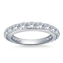 Round Diamond Adorned Eternity Ring in 18K White Gold (1.10 - 1.25 cttw.) | B2C Jewels