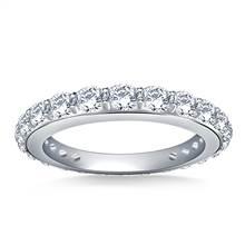Round Diamond Adorned Eternity Ring in Platinum (1.10 - 1.25 cttw.) | B2C Jewels