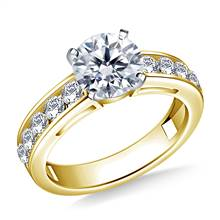 Round Diamond Engagement Ring in 14K Yellow Gold (3/4 cttw.) | B2C Jewels