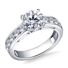Round Diamond Engagement Ring in 18K White Gold (3/4 cttw.) | B2C Jewels
