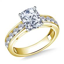 Round Diamond Engagement Ring in 18K Yellow Gold (3/4 cttw.) | B2C Jewels