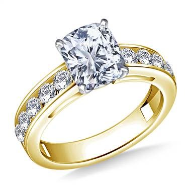 Round Diamond Engagement Ring in 18K Yellow Gold (3/4 cttw.)