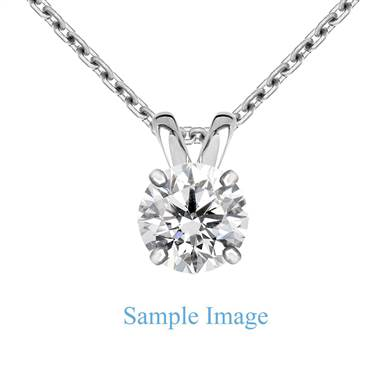 Round Diamond Solitaire Pendant in Platinum