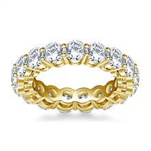 Round Diamond Studded Eternity Ring in 14K Yellow Gold (4.00 - 4.50 cttw.) | B2C Jewels