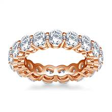 Round Diamond Studded Eternity Ring in 18K Rose Gold (4.00 - 4.50 cttw.) | B2C Jewels