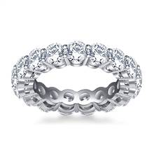Round Diamond Studded Eternity Ring in 18K White Gold (4.00 - 4.50 cttw.) | B2C Jewels