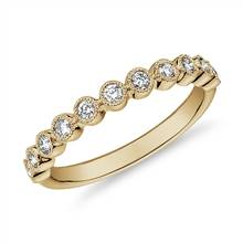 Round Dot Milgrain Diamond Ring in 14k Yellow Gold (1/4 ct. tw.) | Blue Nile