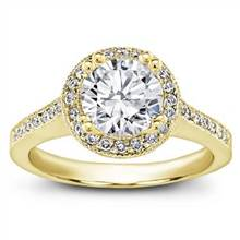 Round Halo Pave-Set Engagement Ring | Adiamor