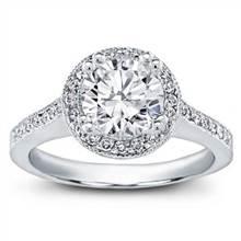 Round Halo Pave-Set Engagement Ring | Adiamor