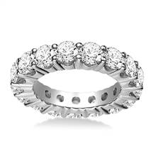 Round Prong Set Diamond Eternity Ring In 18K White Gold (3.75 - 4.75 cttw.) | B2C Jewels