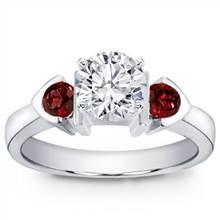 Ruby Accented, Bezel Set Engagement Setting | Adiamor