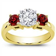 Ruby Accented Engagement Setting | Adiamor