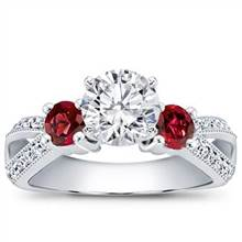 Ruby Accented Pave Engagement Setting | Adiamor