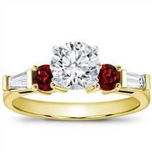 Ruby and Round Diamond Setting | Adiamor
