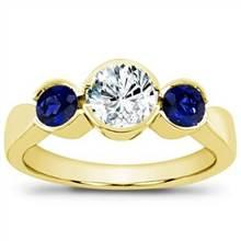 Sapphire Accented, Bezel Set Engagement Setting | Adiamor