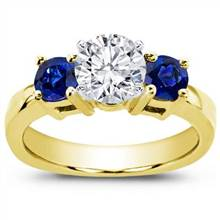 Sapphire Accented Engagement Setting | Adiamor