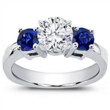 Sapphire Accented Engagement Setting | Adiamor