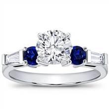 Sapphire and Round Diamond Setting | Adiamor