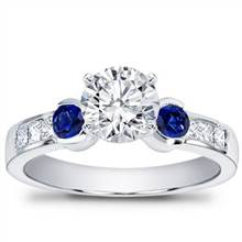 Sapphire Channel-Set Engagement Setting | Adiamor